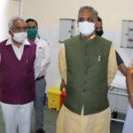 CM त्रिवेंद्र ने किया 300 बेडो का कोविड-19 हॉस्पिटल का उद्घाटन